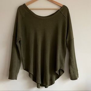 TNA Long Sleeve Relaxed Fit / Army Green